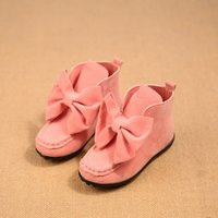 big bang shoes - Winter design new children s boots girls big bow Bang nubuck leather flat boots princess shoes TF5048