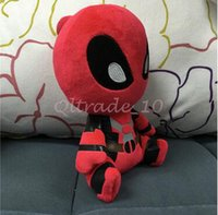 Wholesale 1000pcs CCA3452 High Quality cm Cartoon Movies Deadpool Plush Toys Soft Doll PP Cotton inch Deadpool Stuffed Animals Kids Stuffed Dolls
