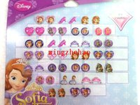 Wholesale 10 sheets New Arrive job pairs OF GIRL STICK ON EARRINGS Cartoon Sofia the Frist STICKERS