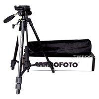 2015 Trípode Profesional Portátil Trípode de Viaje de Aleación de Aluminio para Nikon Canon DSLR Camcorder con Rocker Arm Ball Head