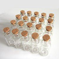 Cheap 16x32mm Wholesale Lots 20 Tiny Small Empty Clear Cork Glass Bottles Vials 1.8ml For Wedding Holiday Decoration Christmas Gifts