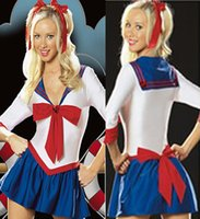 Wholesale 1030 Sailor Moon anime cheerleader costume sexy student services role playing students loaded stage