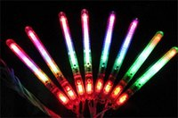Wholesale New Multi Colorful Modes LED Flashing Night Light Lamp Glow Wand Sticks strap Birthday Christmas Party festival Camp DHL