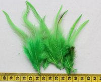 aqua saddle - 600pcs Selected Green Rooster Saddle Feather Hair Extensions Pack quot for handicraft fascinator