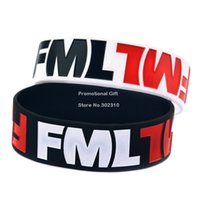 band jokes - 50PCS FML Silicon Wristband Fuc My Life Bracelet Inch Wide Band Funny Joke Item Great to Used in Any Benefits Gift