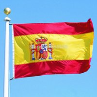Wholesale Spain flag for Festival the world cup Home Decoration flag banner support IA762 P