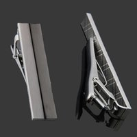 Wholesale Men Tie Clip Tieclip Chrome Stainless Steel Standard Clasp Bars Pins Simple