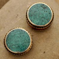 artisan beads - Tibetan Jewelry BD164 Nepalese Artisan Handmade Turquoise Beads from Nepal Creations