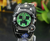 digital watches - New Arrival Minecraft Creeper Wristwatch Children s Digital Watch Cartoon Minecraft Kids Boys Birthday Gift with retail box drop shopping