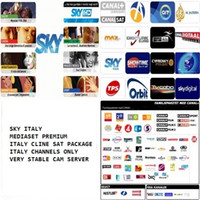 Wholesale STABLE CLINE EURO SERVER CCAM FOR ITALY MEDIASET PREMIUM SKY IT SKY ITALY CHANNELS ONLY AND For Sat Receiver Use MONTHS