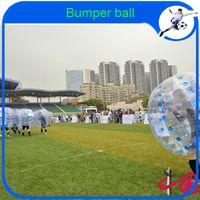 Cheap Wholesale-CE Dia 1.2m TPU inflatable human hamster ball, bubble football, soccer zorb ball, zorbing bumper ball, bubble bumpers