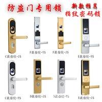 Wholesale The new security door fingerprint lock fingerprint lock fingerprint lock source Intertek Intertek lock source