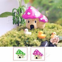 Wholesale New Mini Mushroom House Ornaments Potted Plant Craft Decoration Bonsai Garden