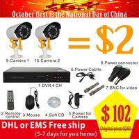 Wholesale Home CH CCTV Security Camera System DVR Outdoor Day Night IR Bullet Camera DIY Kit Video Surveillance System