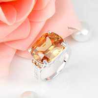 Wholesale 3pcs Holiday Jewelry Gift Newest Morganite Gemstone Sterling Silver Plated Ring R0414