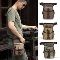 Wholesale Men s Canvas Military Tactical Travel Hiking Motorcycle Hip Bum Belt Fanny Pack Waist Leg Thigh Drop Casual Bag