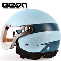 air force security - Authentic fashion BEON Harley motorcycle helmet electric car dealers UV Air Force security men half helmet cap