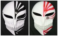 Wholesale PVC Death Ichigo Kurosaki Bleach Mask Dance Masquerade Party Cosplay Halloween red black death mask in stock