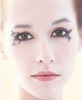 Wholesale 200pairs hot paper cutting art Eye lashes designs false eyelash Christmas party accessory Z716