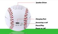 baseballs speaker - Baseball Bluetooth Speaker With PU Leather Material Mini Speaker Built in mAh Rechargeable Battery Version For iPhone Samsung LG