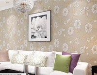 Wholesale 3d Wall Murals Wallpaper Non woven Modern Wall Paper Roll Flower Papel De Parede Floral Wallpapers For Living Room Kid s Room Color