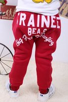 Wholesale Winter boy girl baby cashmere trousers OLK panties girls boys pants kids children clothing baby clothes pant trouser
