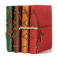 Wholesale Retro Vintage Magic Key Leather Cover Blank String Diary Notebook Journal Notepad