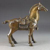 horse statue - Details about China s rare copper old manual hammer the statue of horse