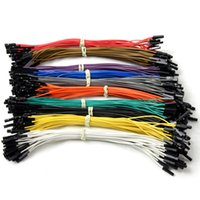 Wholesale 40pcs cm female to female Dupont cable Dupont Wire Color Jumper Fr Arduino T1273 W0