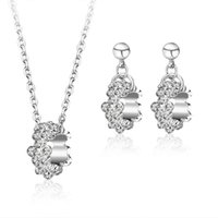 american factory furniture - 2015 Iron Side Table Wicker Furniture Korean Style Man Full Diamond Jewelry Set Plated Necklace Sets Earrings Zircon Suit Factory Outlets