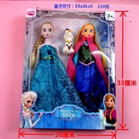 china toys - Frozen Doll Cartoon Elsa Anna Olaf Cute Beauty toy action figures plush Kids Girl Children toys Princess dolls New Christmas Gifts