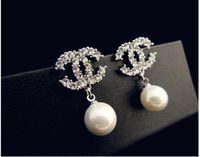 big diamond stud earrings - South Korea han edition of high grade fashion big earrings Pearl allergy free diamond stud earrings manufacturers selling