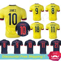 colombia - Colombia jersey Colombia JAMES FALCAO CUADRAD Soccer Jersey Camisa Colombia Thai Quality