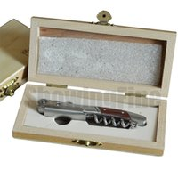 Wholesale Similar Laguiole style wine corkscrew wine bottle opener with figure wood box