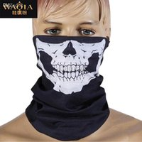 america bandana - WAQIA New Europe and America Style Skull Design Multi Function Bandana Motorcycle Biker Face Mask Neck Tube Scarf