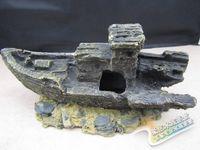 driftwood - 10 cm resin craft artificial driftwood boat fish tank aquarium decoration