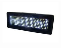 Wholesale LED Business Signs LED Message Board White Character Programmable Signs Level Speed Multiple Languages Various Funcitons B729TW gt