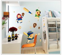baseball wall sticker - Removable Home Decoration Baseball Children s Room Kindergarten classrooms Wall Stickers Decal