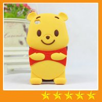 winnie the pooh s4 - 3D Cute Cartoon Winnie the Pooh Silicon Case For iphone S S iphone plus Samsung galaxy S3 S4 S5 Note free
