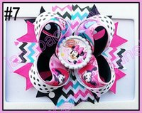 Wholesale quot Inspired Boutique Layered Hair Bow birthday hair bows girl hair clips A
