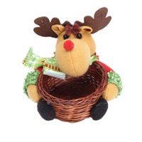 basket stands - Mance Table Moose Cute Santa Claus Design Indoor Christmas Standing Candy Storage Basket Decoration Supplies