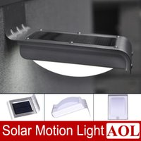 Wholesale PIR Solar Powered LED Wall Lamp LED Lights Lumen Outdoor Security Light Ray Motion Sensor Light Motion Detection Path Garden Yard