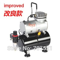 air compressor tank - Royal compressors TC T Mini Air Compressor with L Air Tank Oil less Portable Airbrush air pump for Painting Tatoo
