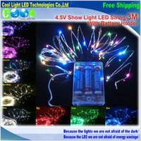 Wholesale With Battery Holder V m LED Copper Wire LED String Starry Lights For Holiday Party Wedding Decoration