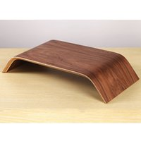 Wholesale High Quality Wooden Desktop Computer Stand Dock Holder Display Bracket Universal for iMac PC Notebook Laptop C2230