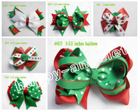 Hair Bows baby products - Christmas New Product Bowknot hair accessories kids bows flower baby girls headband flower Headwear boutique ribbon hair clip HD32