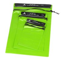 Wholesale 3Pcs Set Waterproof Bag Pouches Green Waterproof Storage Bag for Outdoor Sports Swimming Hiking Camping