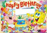 banner roll paper - Theme wallpaper birthday banners Haimian Baobao cartoon product layout CM