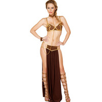 Wholesale 4PCS Luxurious Slave Girl Costume Set European Style Sexy Bikini Top Cosplay Uniforms Costumes For Women On Sale