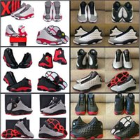 Cheap 14 Colours (With Box) New Model High Quality Air Retro 13 Rocket 3M Reflective Barons Gray Toes Men's Basketball Sneakers Trainers Shoes